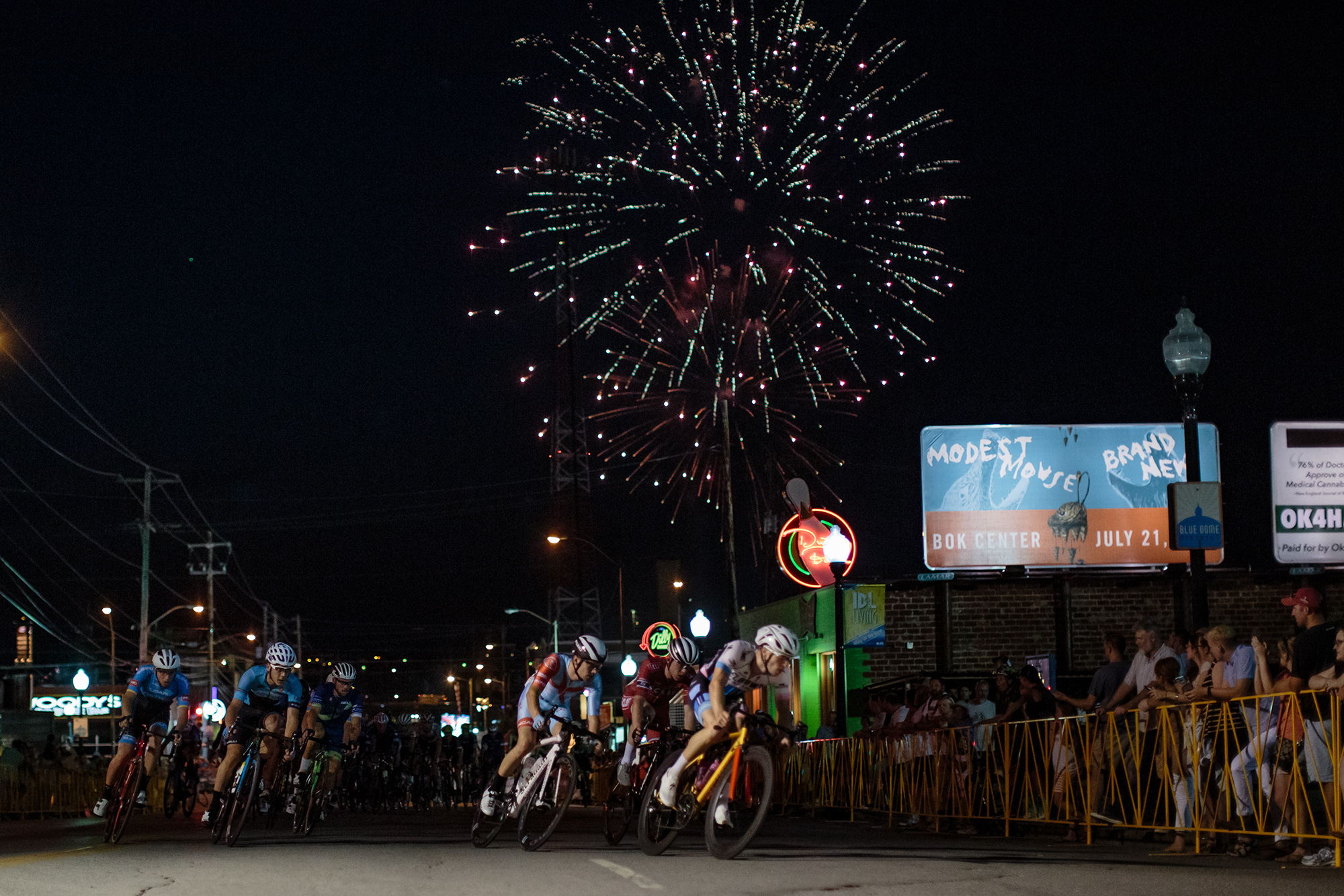 The city of Tulsa, Oklahoma, has rallied behind the Tulsa Tough, including gran fondo events on consecutive weekend days. Photo: Bo Bickerstaff.