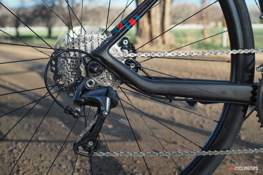 The bounty of zip-ties seems out of place in a world of internal cable routing but the external, full-length housing does make for easy servicing and long intervals between requisite maintenance.