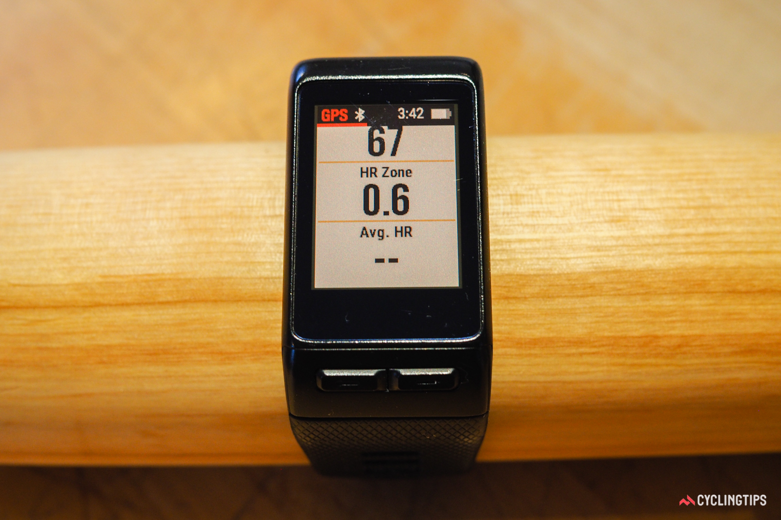 I would have preferred that the data be organized differently on the Garmin Vivoactive HR, but so be it. In reality, the fact that the data screen is on your wrist means you aren't going to be looking at it as often as you would with a handlebar-mounted computer, anyway.