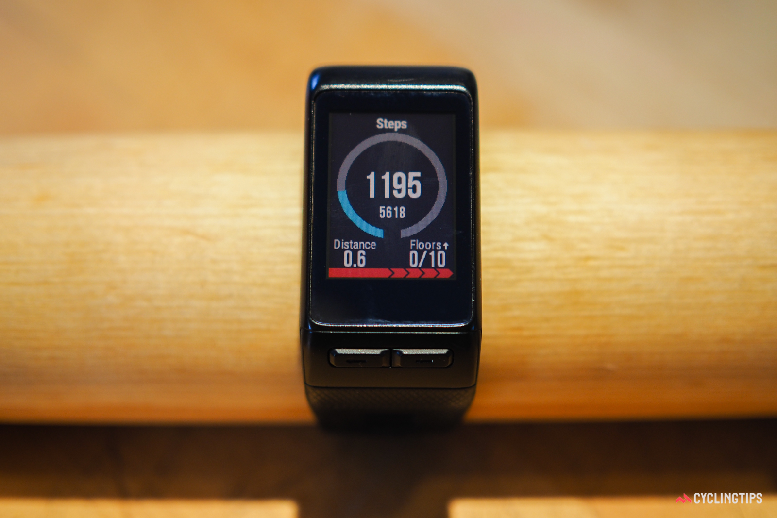 The full-color screen is not only bigger than the monochrome one on the Fitbit Surge, but it's also higher-resolution and easier to read overall.