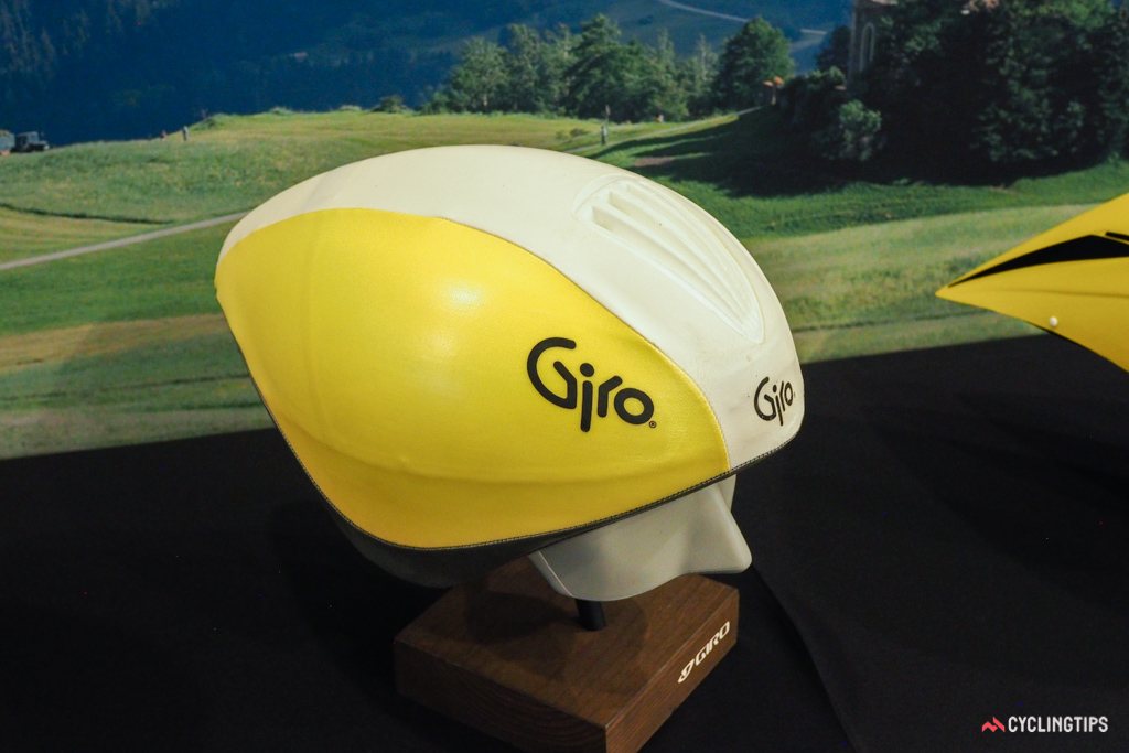 Few aero helmets elicit memories quite as much as this one, which Greg LeMond used in his historic final-stage victory over Laurent Fignon in 1989.