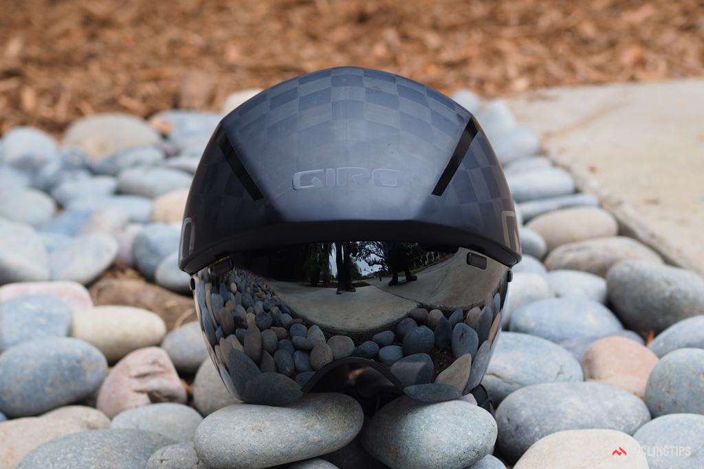 The TeXtreme carbon fiber shell isn't used to save weight, but rather to decrease the helmet's overall size slightly to improve aerodynamic efficiency.