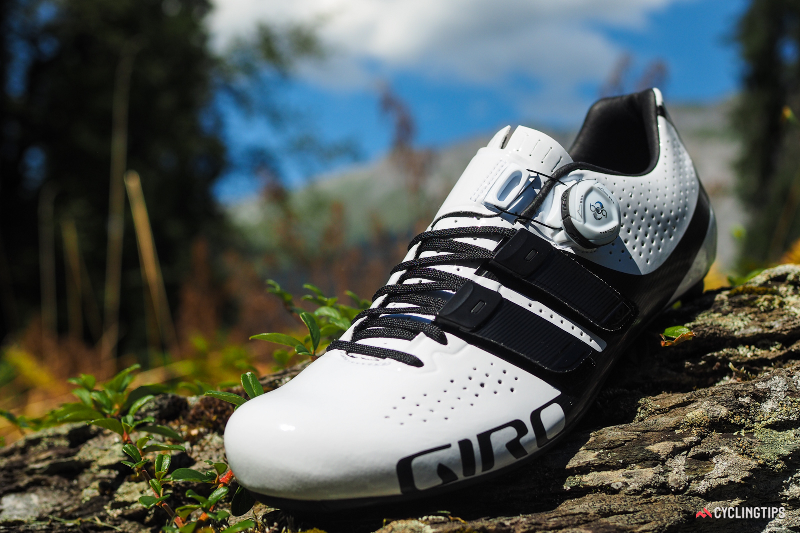 Giro says the Techlace design offers the comfort and suppleness of laces but with the quicker adjustability of hook-and-loop straps. They're also replaceable, and Giro will offer 12 different lace lengths (and six colors) so that users will also always end up with perfectly situated straps.