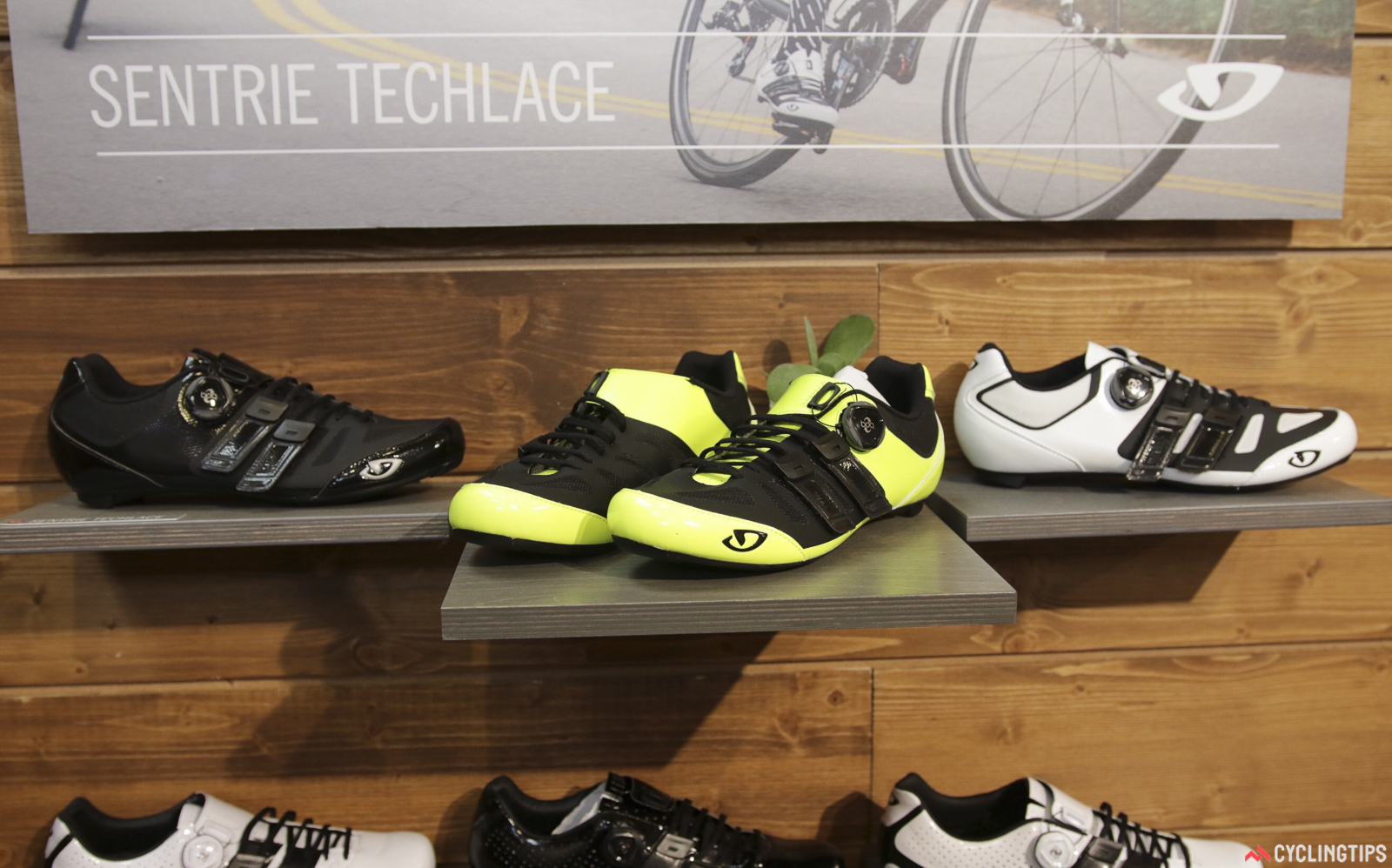 The Giro Sentrie TechLace come in three colour options too. Photo: David Rome.