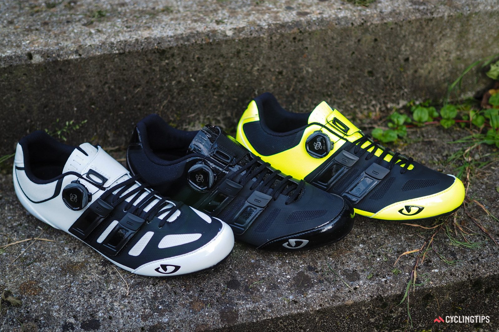 The Giro Sentrie Techlace will be available in three different colors. Retail price will be US$250 / €250 when they begin arriving in shops in October. UK and AU pricing is TBC.