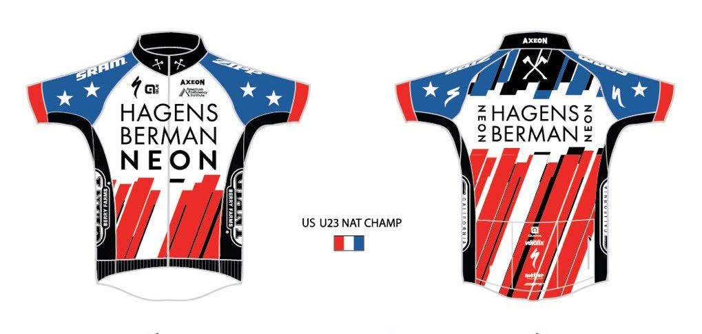 The original design submitted to USA Cycling for Greg Daniel's team-issue pro national road champion jersey. Courtesy: Axeon Hagens Berman