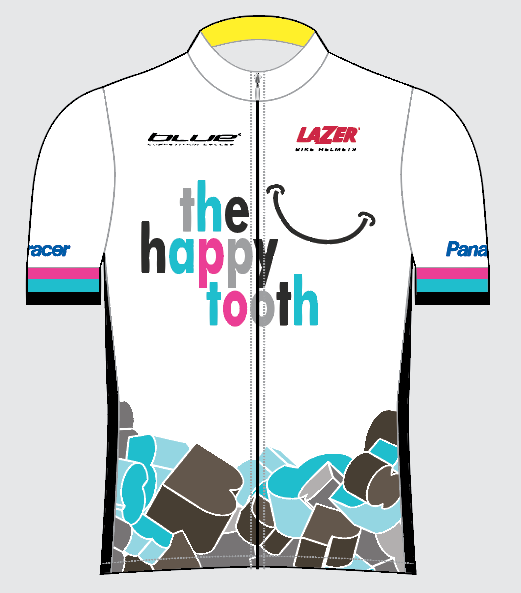The Happy Tooth Pro team's jersey design