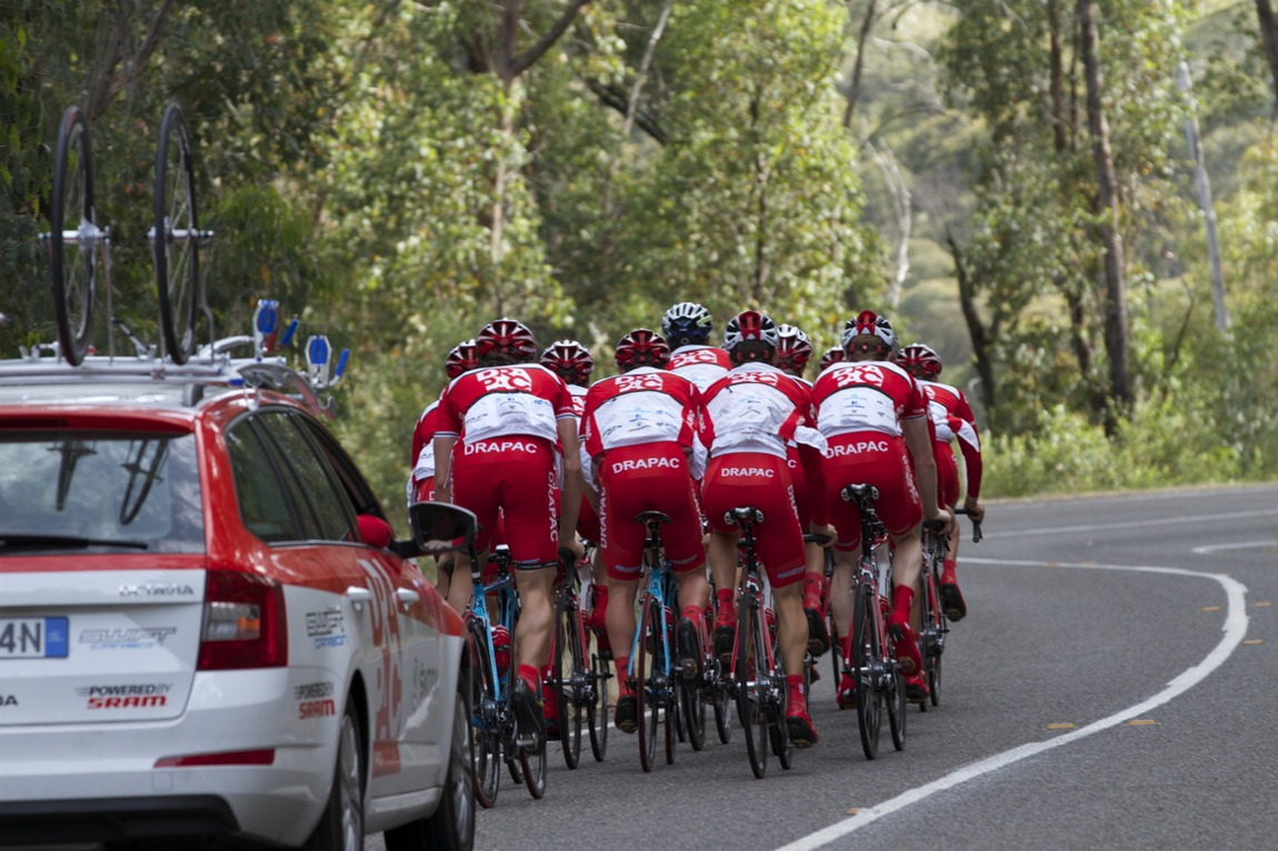 Drapac Pro Cycling held a new year training camp in Bright in the lead up to the Road Nationals.