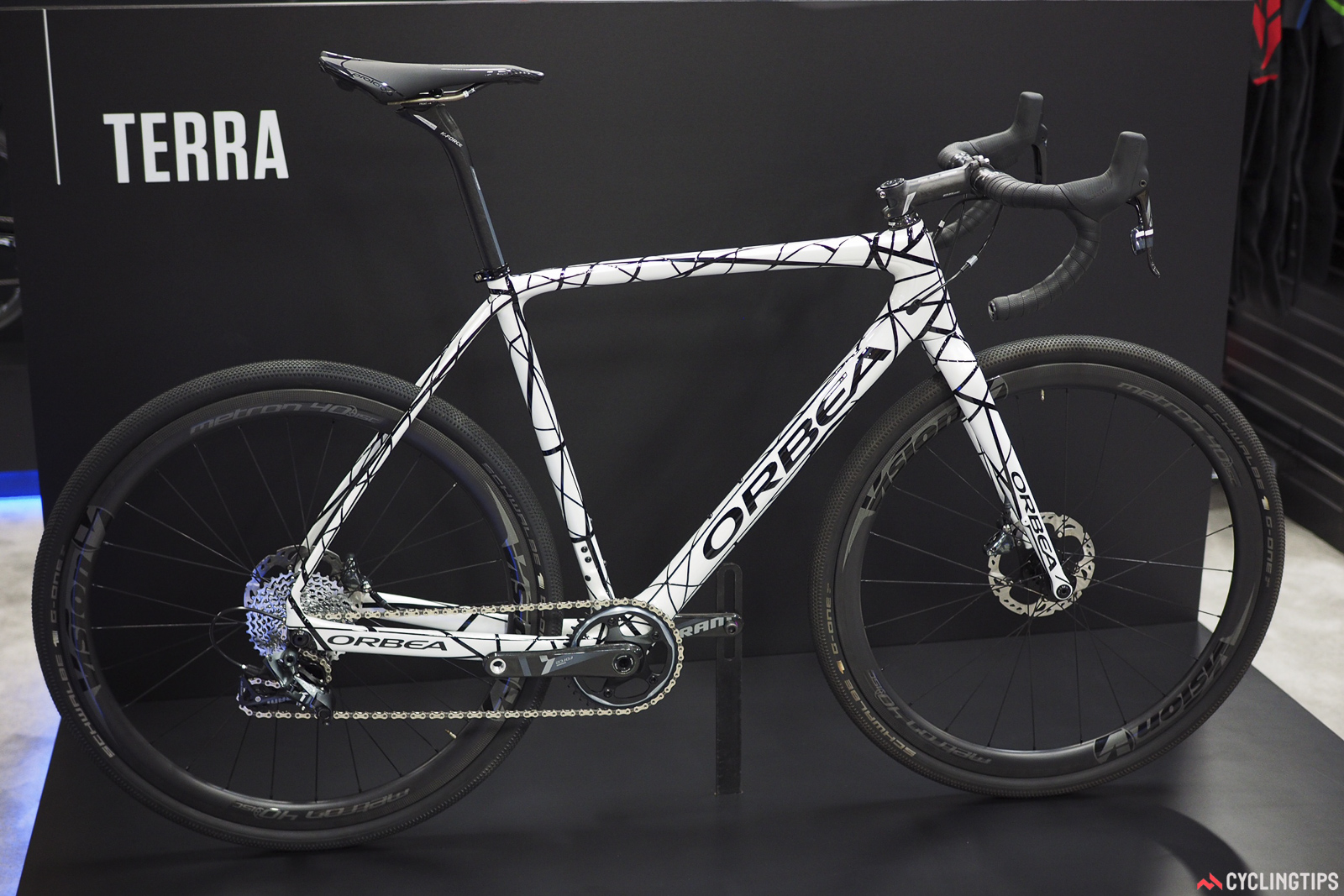 Orbea previewed a new gravel bike called the Terra. Further information won't be available for a few months, but it looks to be well in keeping with the competition. Starting price will be US$3,000.