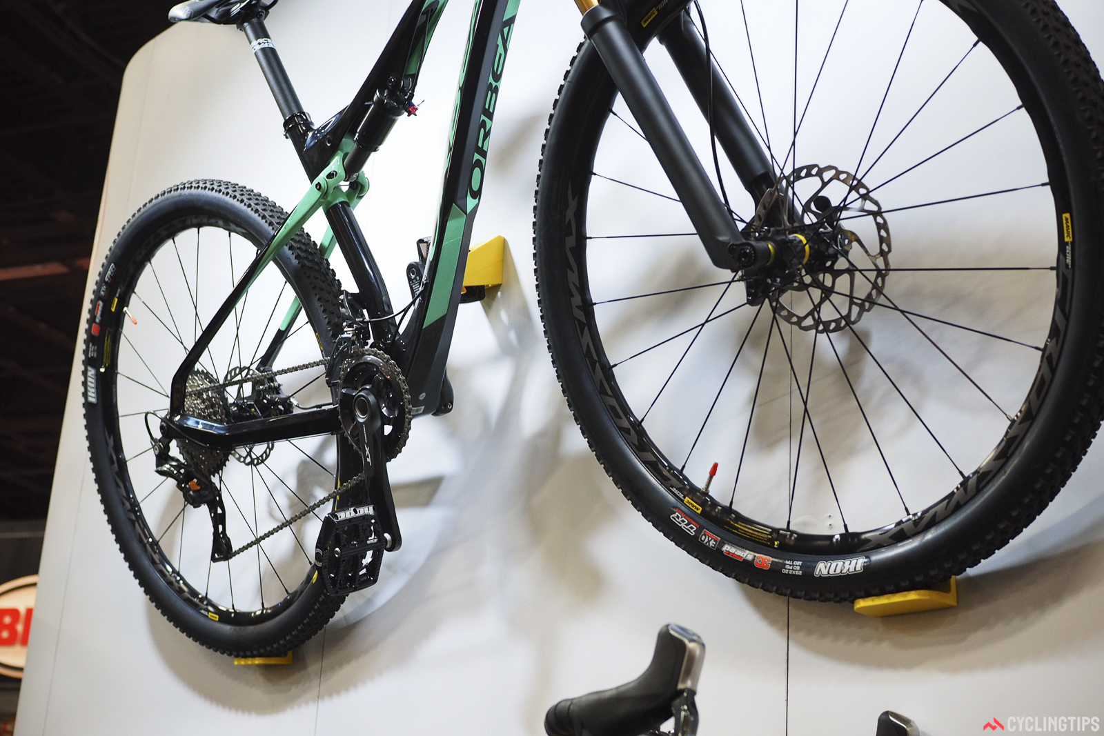 Cycloc also showed off the UK-made Hero, which secures the bike against the wall via a pedal hook and dual wheel shelves. Retail price is US$70.