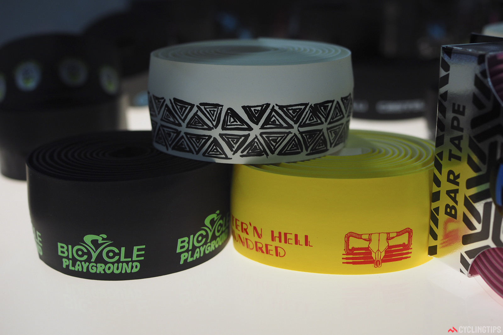 Zevlin makes custom handlebar tapes with surprisingly low minimums: just ten sets, with modest initial setup fees, too.