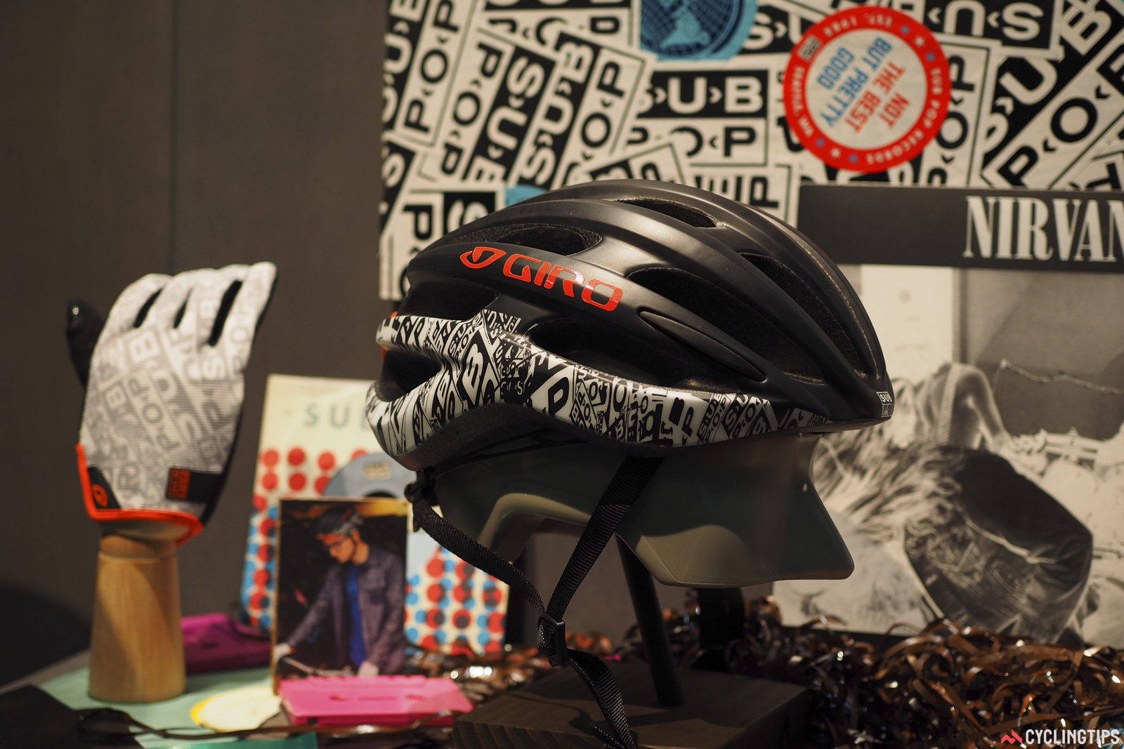 Giro's Sub Pop collection adds a bit of extra style to a few select pieces.