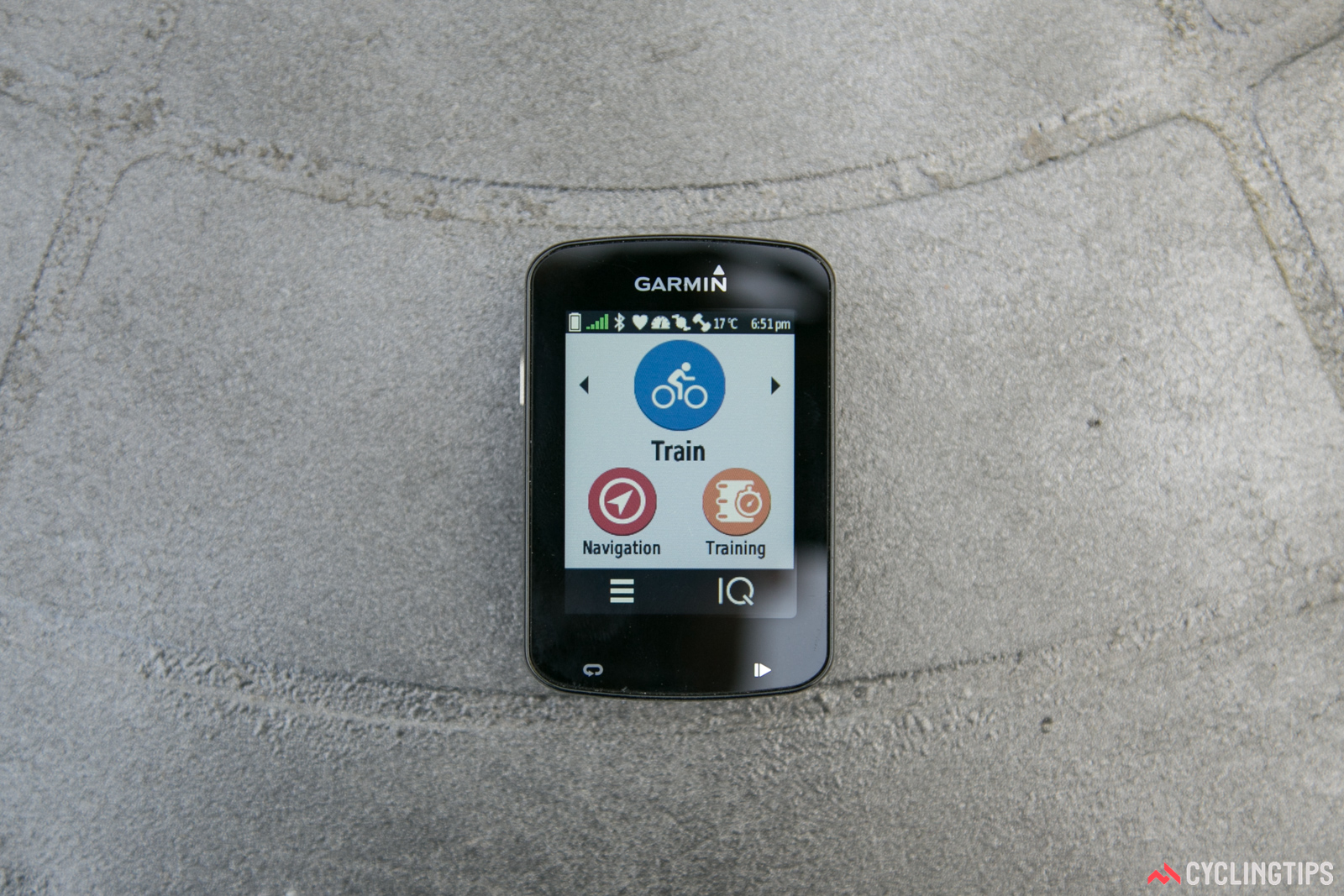 Mapping and navigation can be accessed from the home screen.