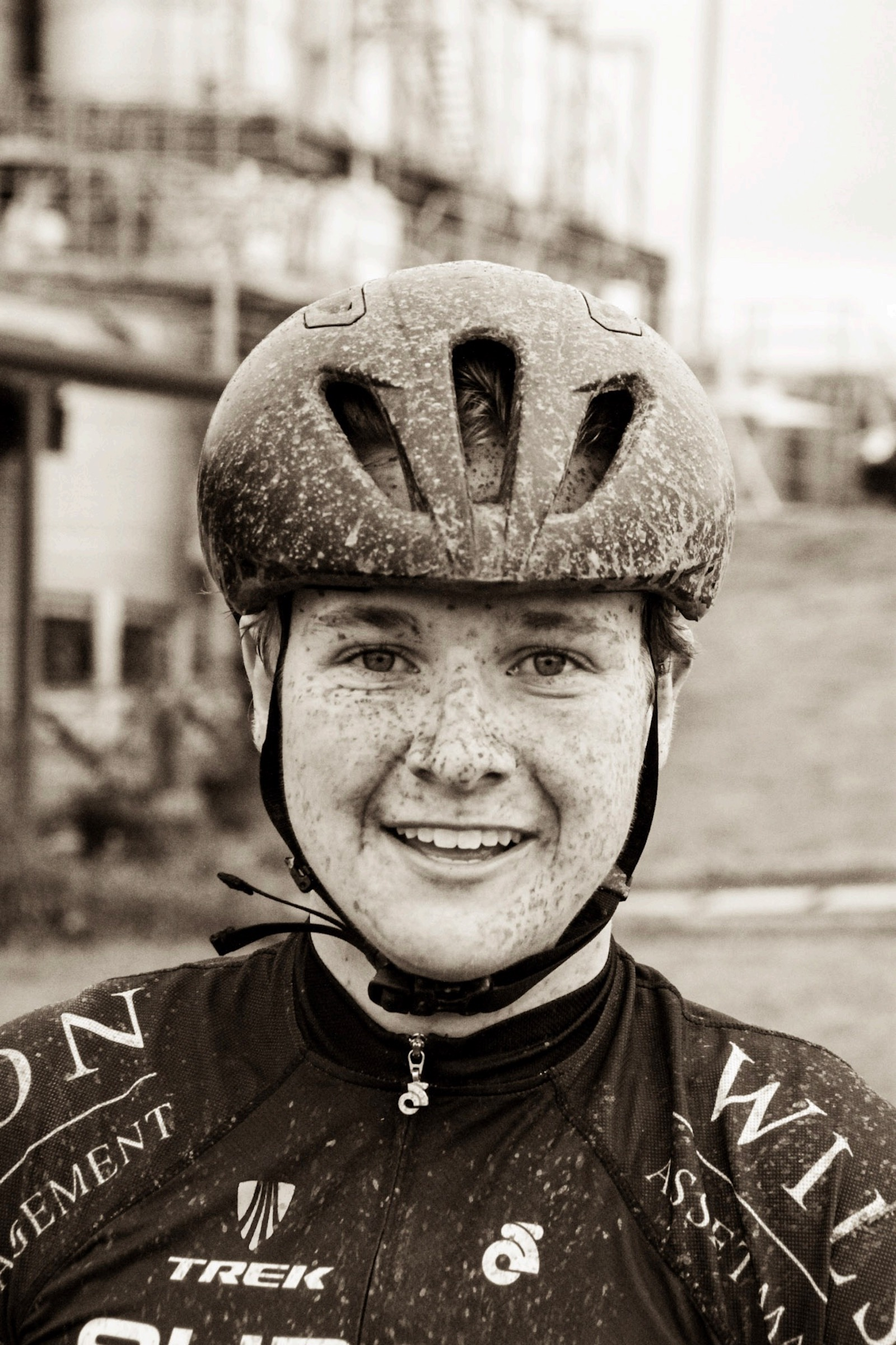"""Adrian Hamilton, Australia. """"My sons first NRS race, Tour of the King Valley. After 135km of hills, rain and dirt, and finishing mid field at 16, the smile tells it all. I asked him if it was hard, and he said, 'no way, that was so much fun'."""" DSLR. @hamobike"""