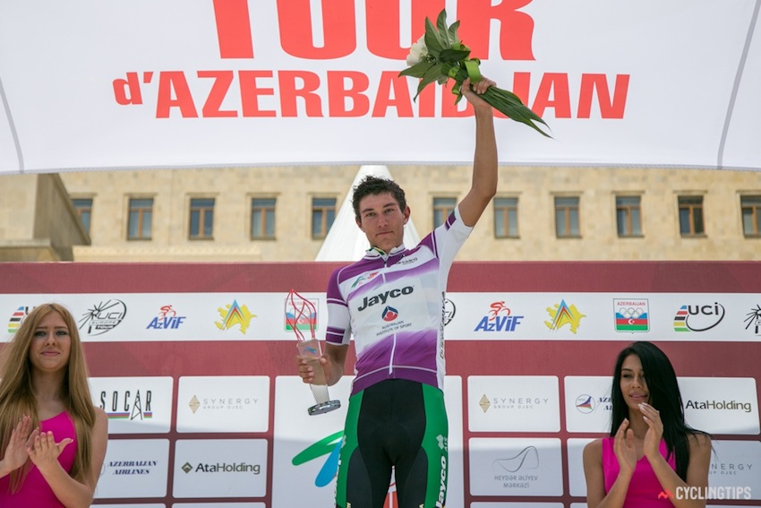 Rob is crowned Best Young Rider after the final stage of the Tour d'Azerbaidjan.