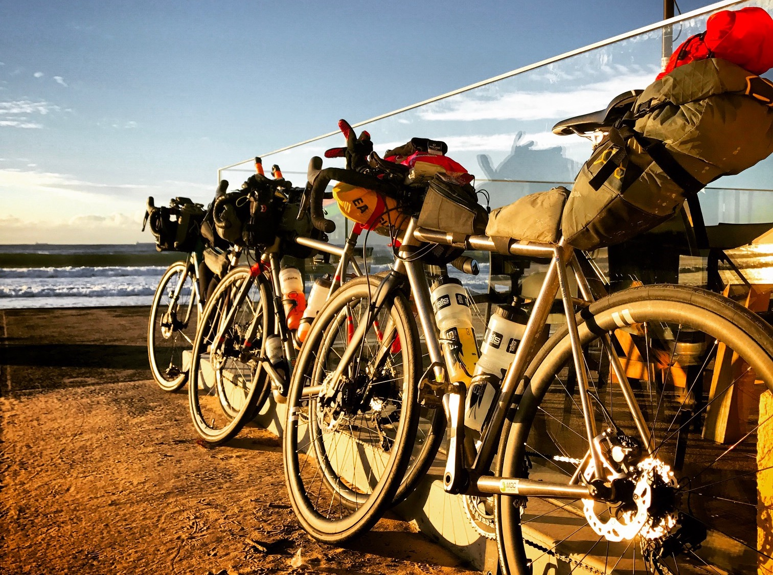 Bikes at the start of the 2017 Indian Pacific Wheel Race