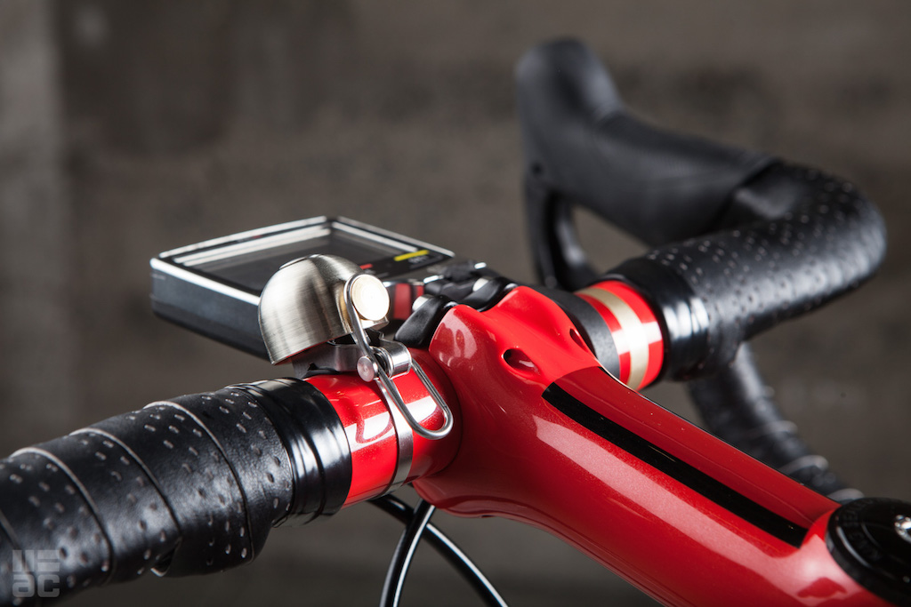 The Spurcycle is perhaps the first bell that looks perfectly at home even on high-end road and mountain bikes. Photo: Above Category.
