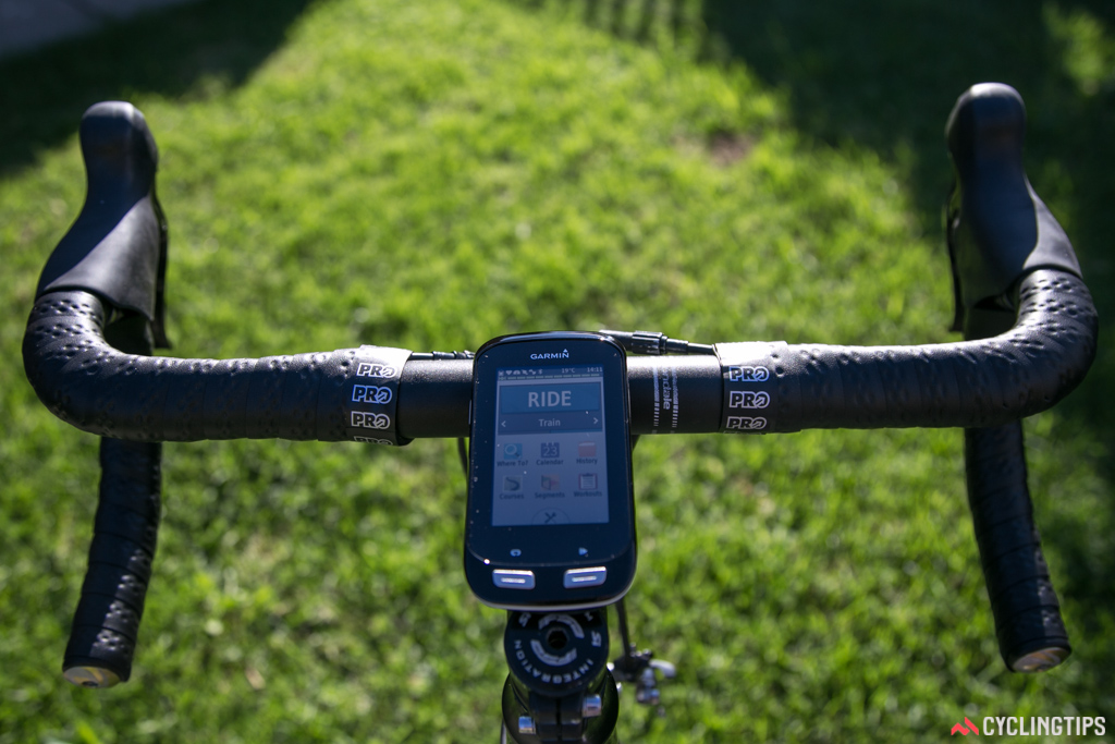 Edge 1000 on the stem mount. Chris Froome would be shattered -- no stem is visible.