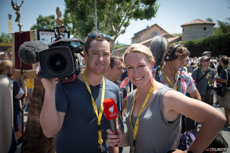 Camera team #1: Ollie and Kate.