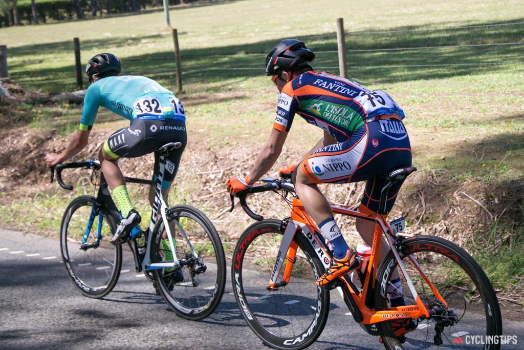 Chris Harper and Yuma Koishi lead for much of the stage.