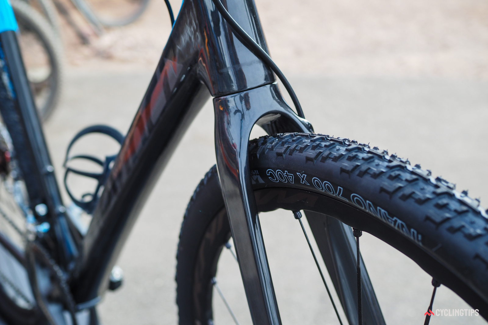 Devinci's new Hatchet will fit tires up to 700x40mm wide.