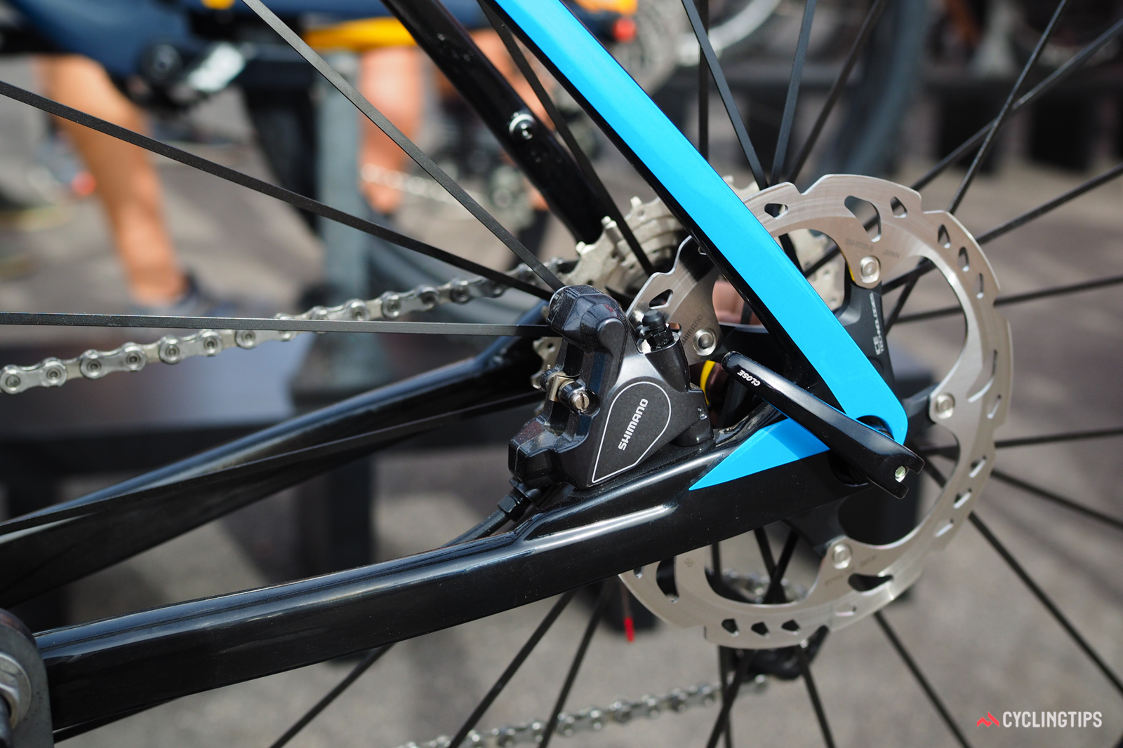 As with virtually every disc-equipped road bike in 2017, the Devinci Hatchet will come equipped with 12mm thru-axles and flat-mount calipers front and rear.