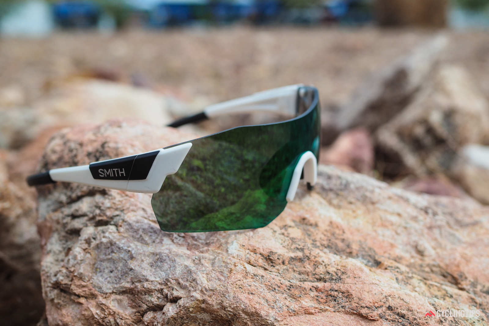 Smith's new ChromaPop lens tints are said to more specifically block and transmit specific wavelengths of light for enhanced contrast and clarity. The concept is similar to what Oakley does with its Prizm lenses.