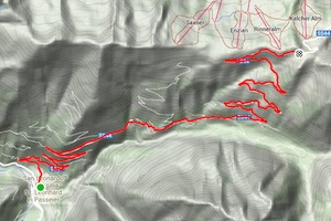 The many switchbacks of the Jaufenpass climb. Click on the image to see the Strava segment.