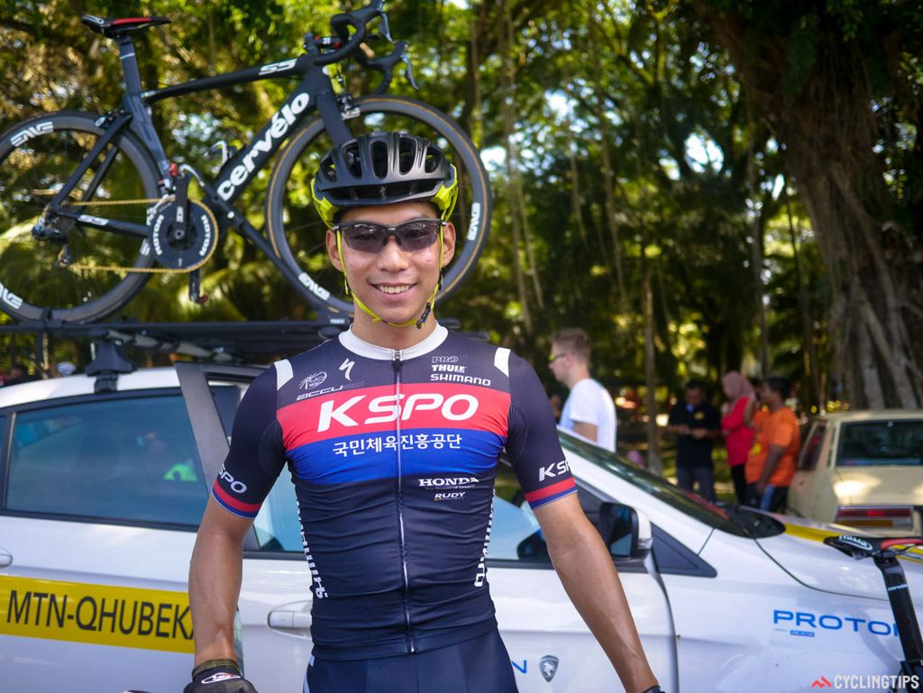 Joon Young Seo was the winner of stage 5 of this year's Tour de Langkawi.