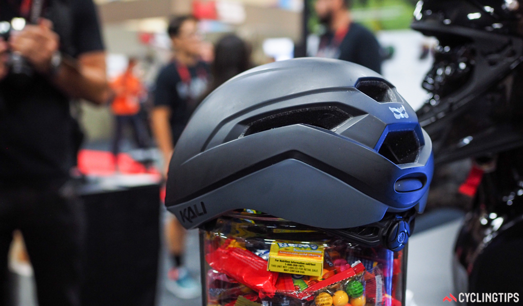 Exhaust ports at the back of the Kali Tava are designed to help pull hot air out the back of the helmet.