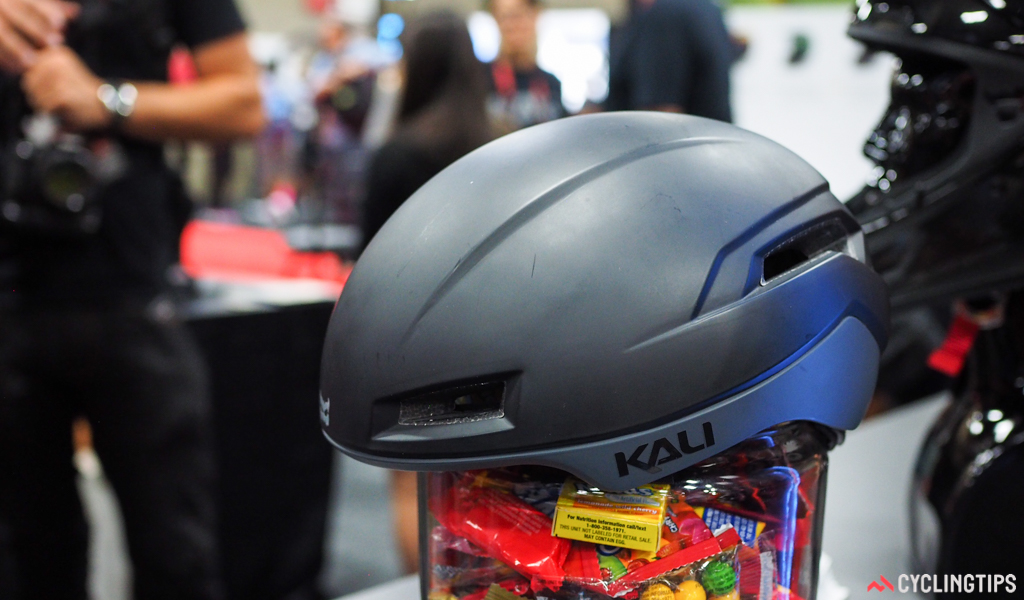 Kali's Tava aero road helmet will supposedly save you some watts with its trim profile and minimal venting.