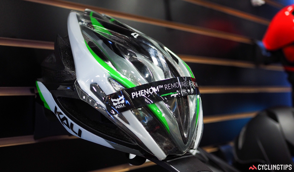 Lazer isn't the only company to offer clear snap-on helmet covers for weather protection. Kali Protectives offers a similar option for its Phenom model.