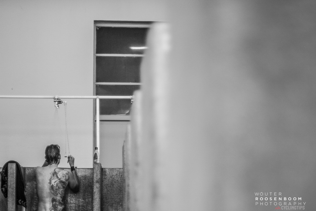 The infamous showers of Roubaix Velodrome.