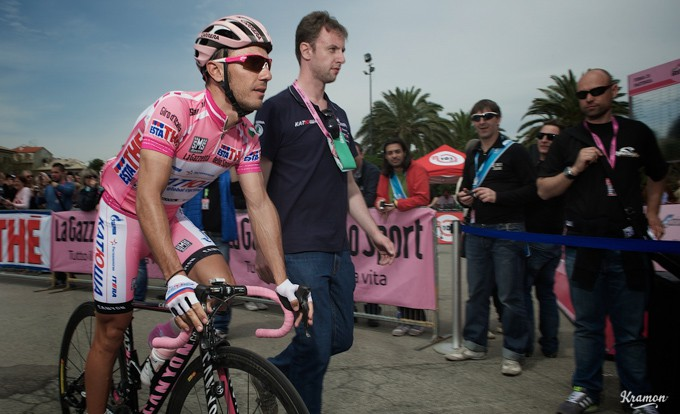 Joaquim 'Purito' Rodriguez wore the maglia rosa in 2012 and lost it in the final stages to Ryder Hesjedal.