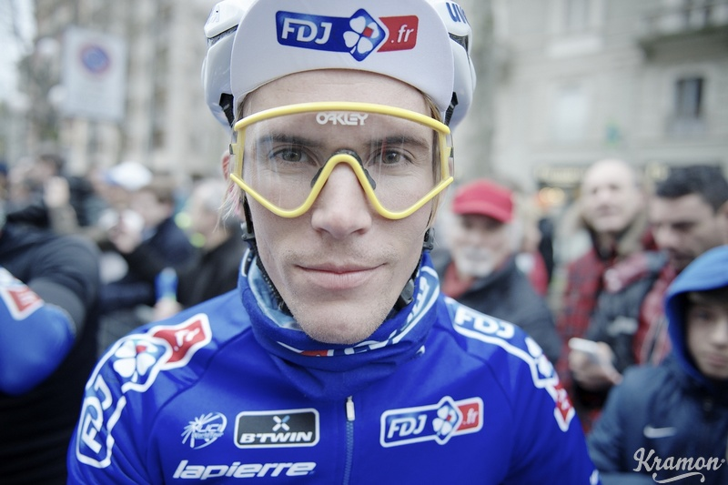 Yoann Offredo was spotted at the 2014 Milan-San Remo wearing some Vintage Collection Eyeshades.