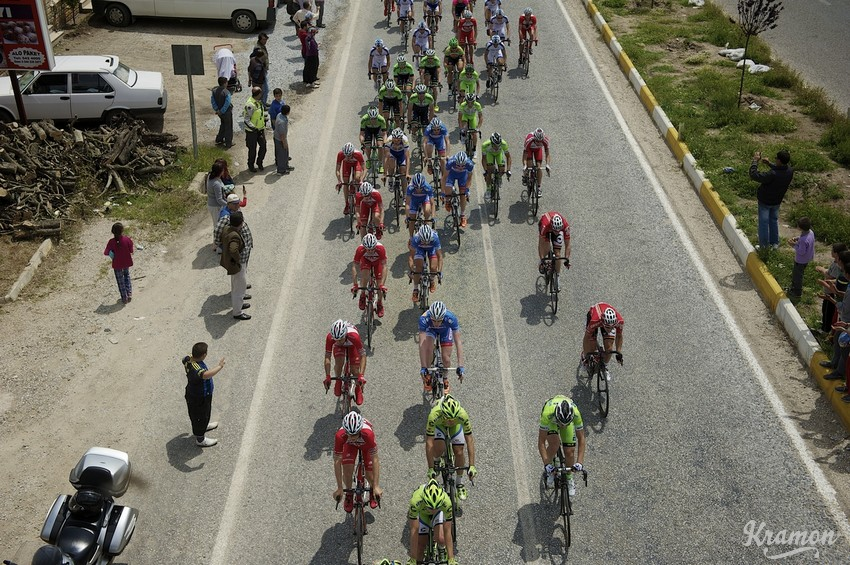 Team Wanty-Groupe Gobert in the pack Tour of Turkey 2014 stage 6