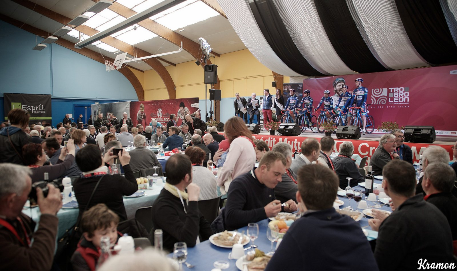 Team Wanty - Groupe Gobert presentation during a VIP guests' brunch before the start of the race 33th Tro Bro Léon 2016