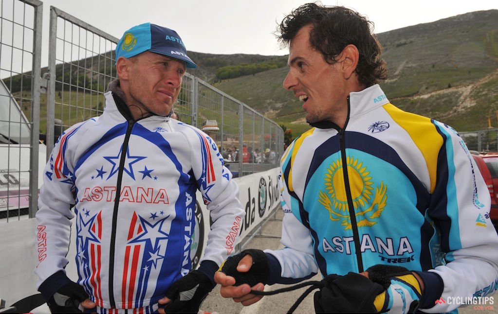 USA Cycling in the past has given much freedom on the design of the national champion jersey, as show by the team-issue Astana kit Levi Leipheimer wore for the 2008 season. designs Photo: Cor Vos