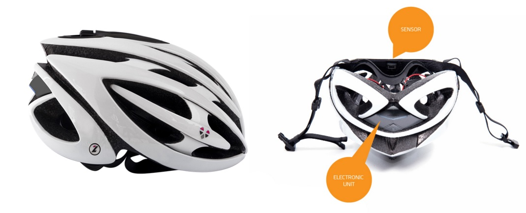 """Lazer's new LifeBEAM is a """"smart helmet"""" senses your body while you ride. This revolutionary piece of wearable technology monitors your heart rate, counts your calories, gives you an accurate analysis of your performance, all the while protecting your head. Yeah, it's wild! $229 USD"""