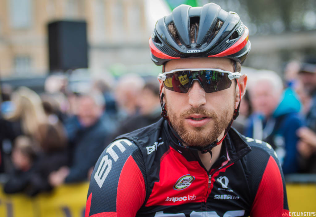 Taylor Phinney (BMC Racing Team) minutes before the start of the 2016 Paris-Roubaix