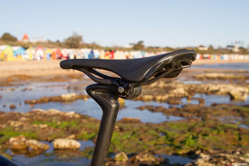"""CG-R seatpost (CG stands for """"COBL GOBL-R"""" or """"Cobble Gobbler""""). The CG-R has 18mm of vertical dampening to take the edge off everything from rough roads to the gravel."""