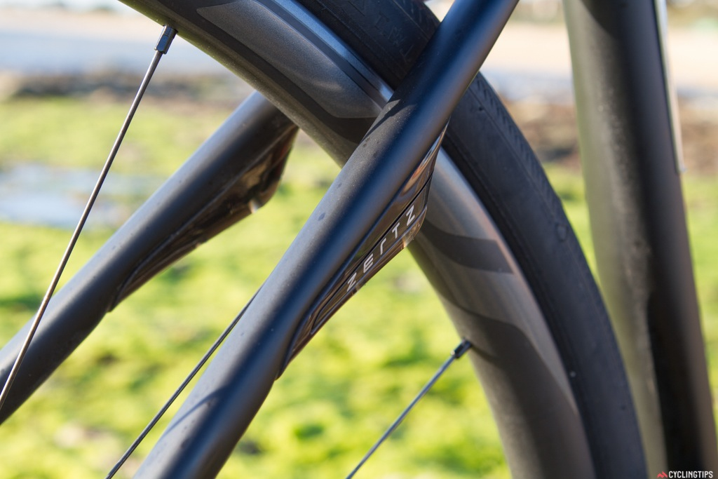 """The Diverge uses the """"Zertz"""" system to create an incredibly smooth ride. The """"Zertz"""" vibration dampeners are just that. It's a common misconception that these provide a sort of suspension for the bike but if you look underneath the elastomer fixtures you'll simply see more carbon fibre."""