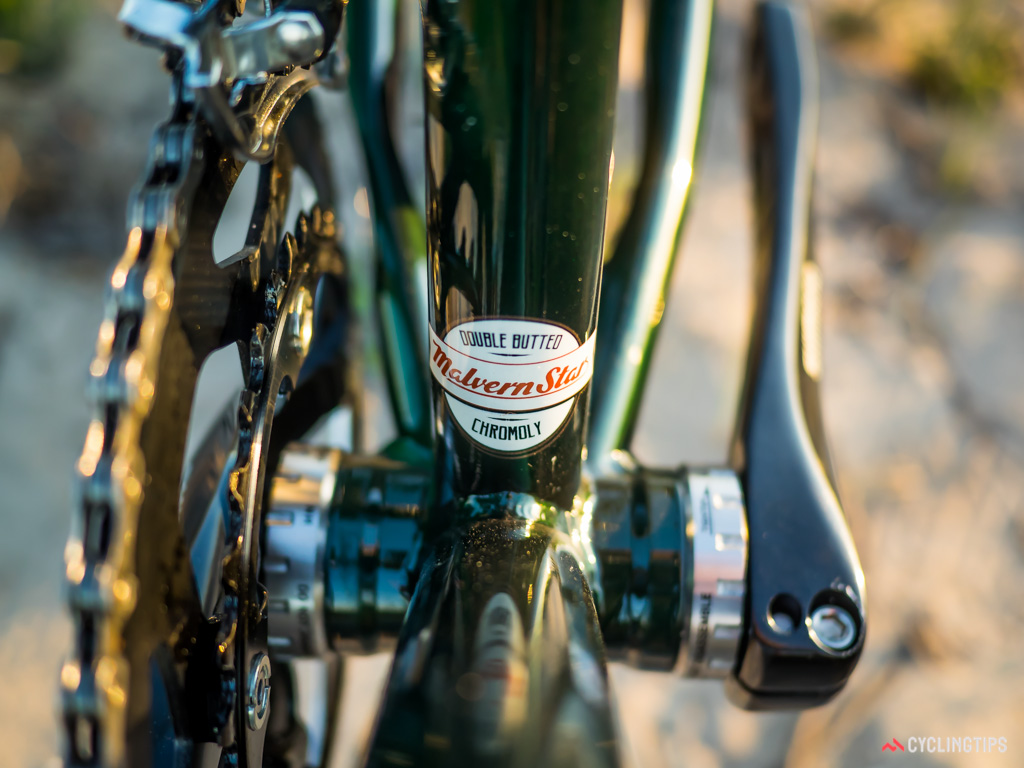 A modern take on a traditional design, hence the externally machined bottom bracket shell and TIG-welding.