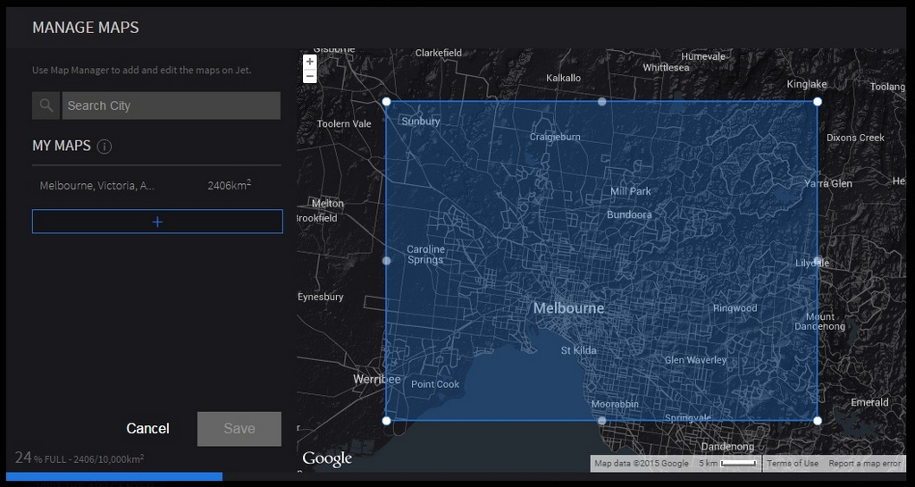 Uploading maps to the Recon Jet using the Map Manager on Recon Engage.
