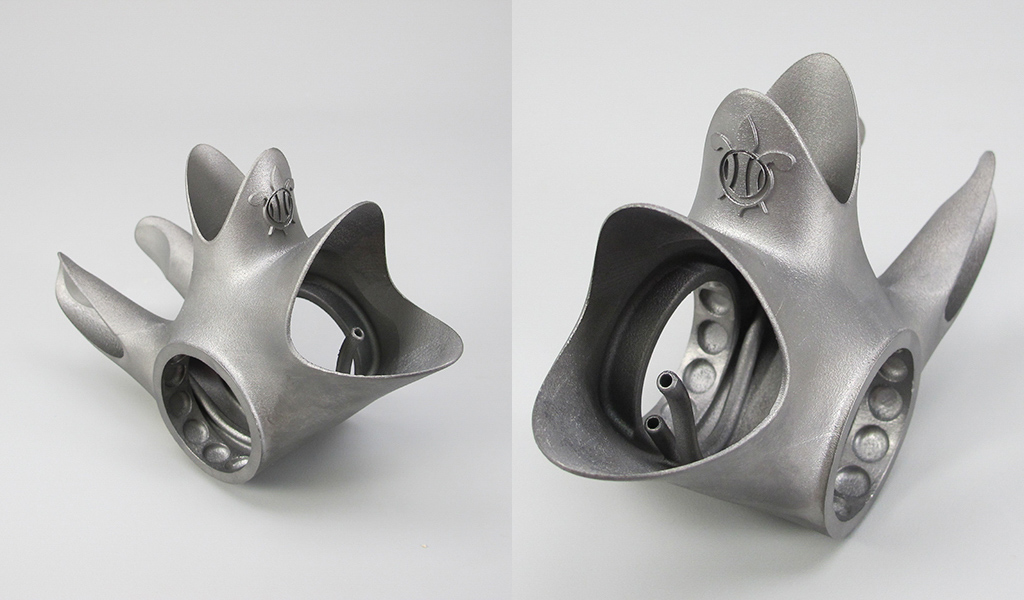 Lugs come out of the printer with a satin finish. Photo: GPI Prototype & Manufacturing Services.
