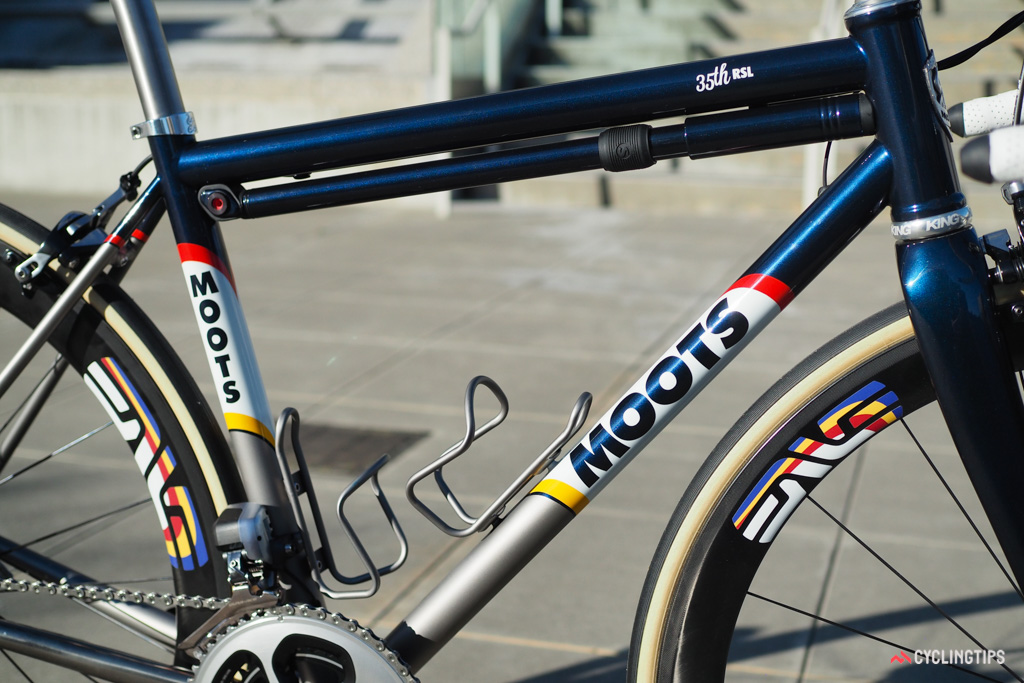 The special paint job pays homage to Moots' Colorado roots.
