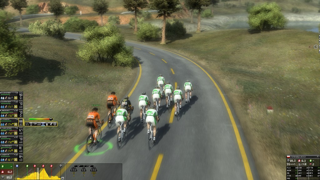 My online opponent assembled a fairly handy breakaway on route to taking the top four spots in the race.