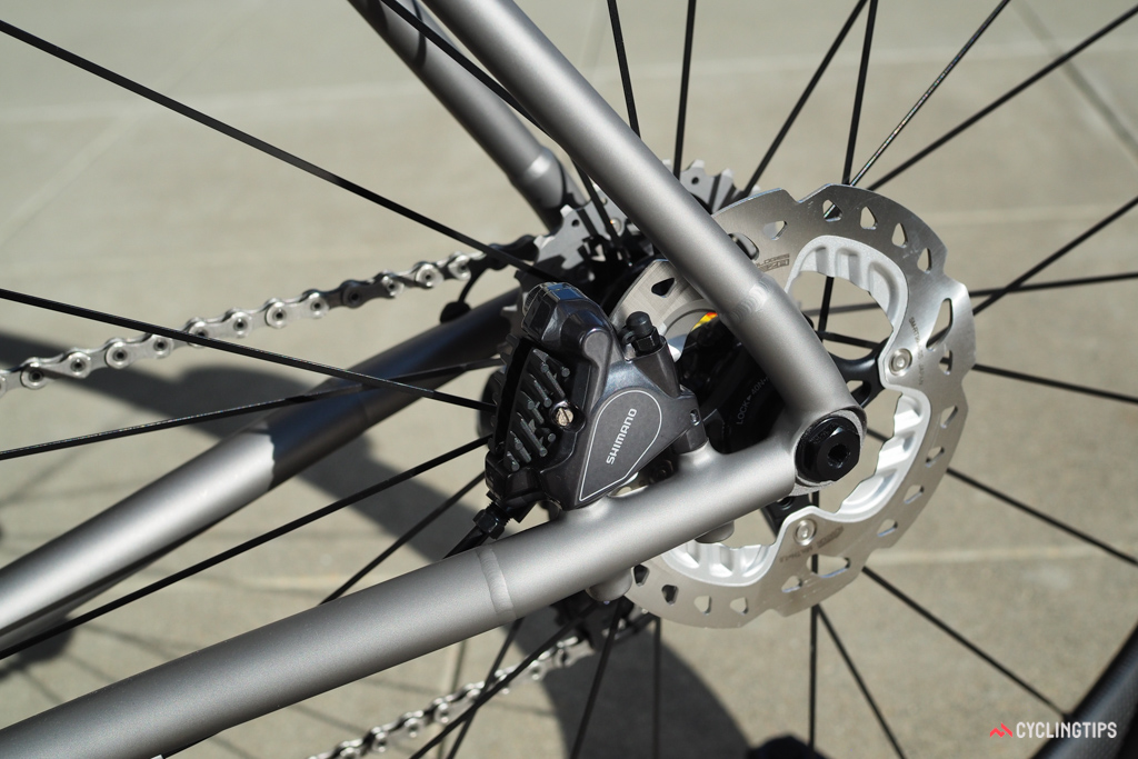 The new flat mount standard for disc callipers is indeed cleaner looking than the post mount interface, which was adapted from mountain bikes.