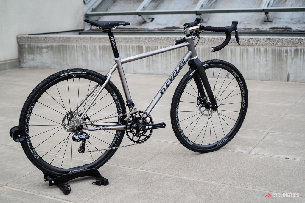 Ti Cycles incorporated Reynolds' new printed titanium dropouts into this beautiful gravel/all-road bike at NAHBS.
