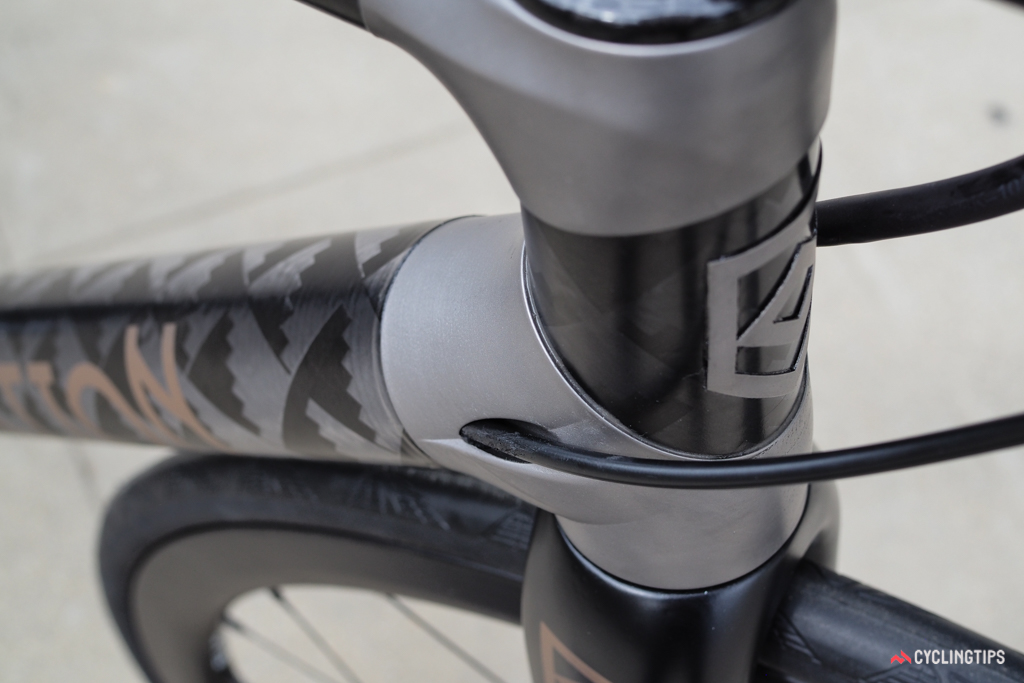 Internal routing maintains the clean look.
